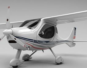 Flight Design CTLS Rigged C4D 3D asset