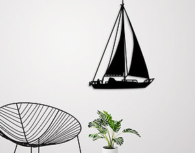 3D print model SAILING BOAT FOR WALL DECORATION