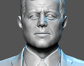 John F Kennedy Bust 3D printable model
