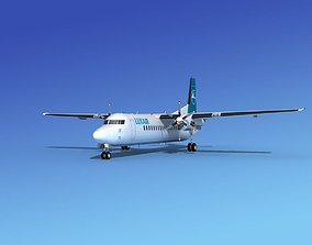 Fokker 50 Luxair 3D