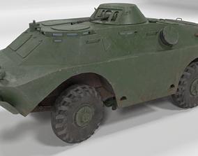 Low poly BRDM-2 3D asset