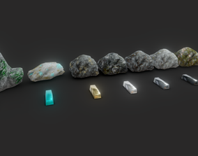 3D asset Ores and Ingots