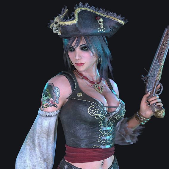 Pirate Female Character