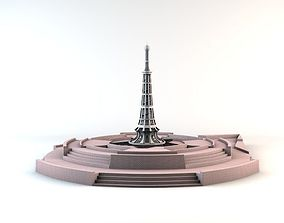 3D asset Minar-e-Pakistan Tower