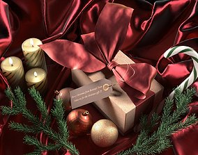 3D Christmas Gift red