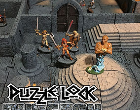 3D printable model PuzzleLock Dungeon