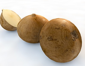 Jicama turnip 3D model