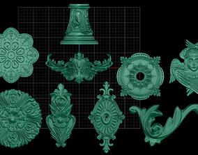 3 decoration elements 3D print model