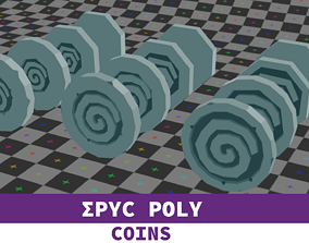 EPIC POLY - Mystery coin with LOD 3D model