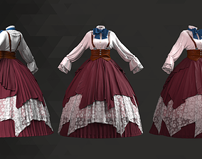 Victorian Style Dress - 70 Marvelous Designer and Clo3D
