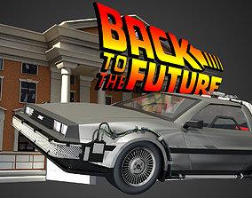 DeLorean - Back To The Future 3D model to
