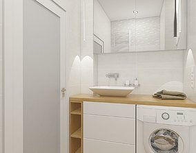 3D Light colored bathroom