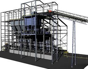 3D model Mining industrial processing plant