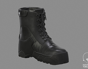 Military Boots Low-poly 3D model low-poly