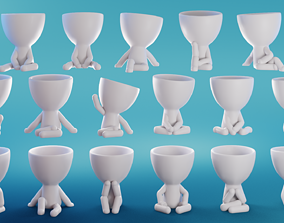3D model Robert Plant Set 17 Poses - ready to print by