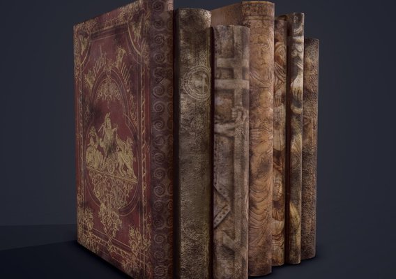 Medieval Books Row 1 Design 1