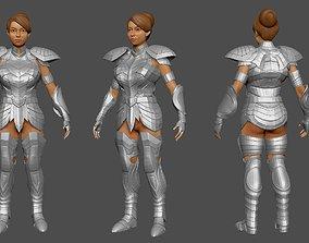 3D model Saint Seiya Girl 3