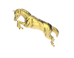 3D print model Arabic Horse in jumping position