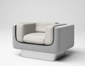 3D model Grey And White Shades Retro Armchair