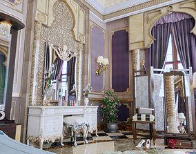 3D printable model realistic full bedroom corona