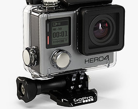 GoPro HERO4 Black Edition action camera with 3D model 1