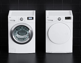 3D Washing Machine - Dryer - Laundry