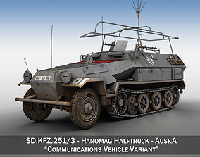SD KFZ 251 3 IV Ausf A - Radio and Command 3D model