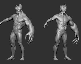 3D model realistic Asym Monster - Highpoly Zbrush project