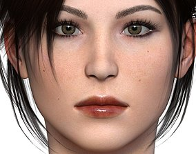 3D asset rigged Character Lara - Craft Female