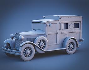 3D printable model storey Police car