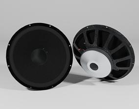 sound Speaker Woofer 01 - Blender 3d