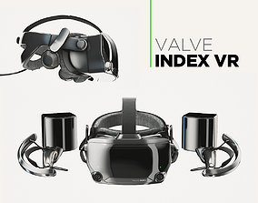 3D model Valve Index VR headset with controllers and 3