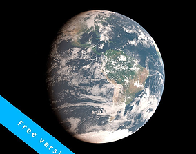 3D model Earth 2k textures -free version- photorealistic