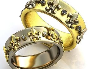 Gold Metal 3D printable model fashion-accessory 1