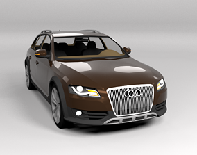 3D asset AUDI A4 ALLROAD 2010 LOWPOLY