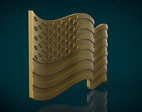 American Flag 3D printable model signs-logos