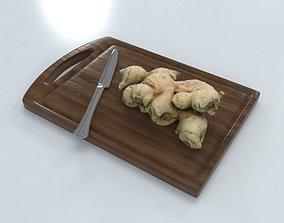 Ginger on Wood board 3D asset