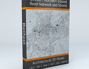 Belfast Road Network and Streets 3D model