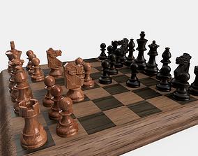 3D model VR / AR ready Chess set