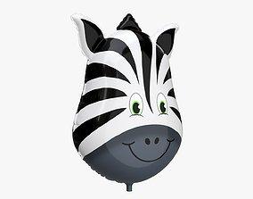 Foil decoration balloon 05 Zebra 3D model