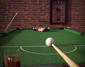 Pool Table - Billards 3D Model VR / AR ready