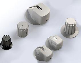 Airbus Knob 3D print model - 6 knob