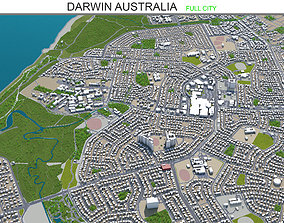 3D model game-ready Darwin Australia 20km
