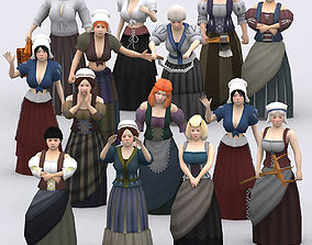 3DRT - Female Peasants Kit animated VR / AR ready