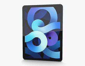 3D Apple iPad Air 2020 Cellular Sky Blue