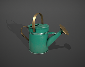 3D model Green Watering Can