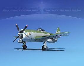 Republic P-47D Thunderbolt V09 3D model