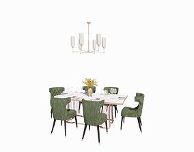 Elegant and sparkling dining set 3D print model