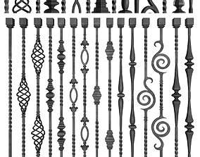 3D model Wrought Iron Bundle No01 Railing