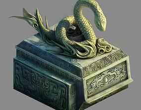 3D Decorative stone - snake